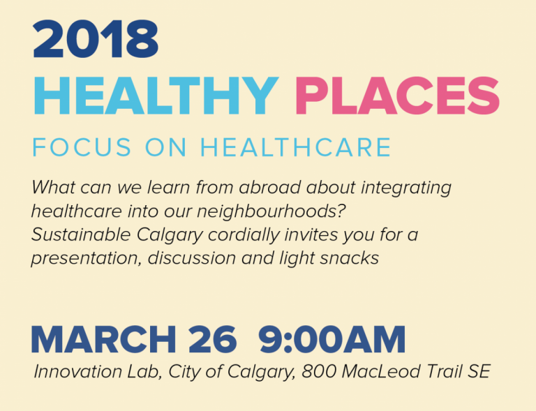 2018 Healthy Places Invitation