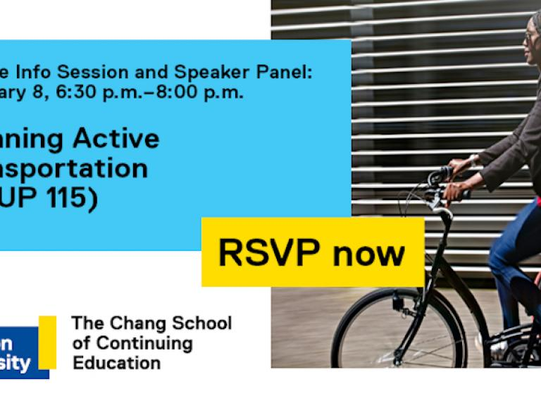 Info Session and Speaker Panel : Planning Active Transportation
